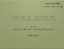 Video Presentation: Music in the Women's Suffrage Movement