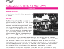 Lesson Plan: Assembling the Hits at Motown